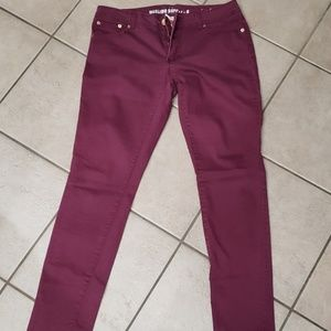 Size 11 skinny mossimo colored jeans